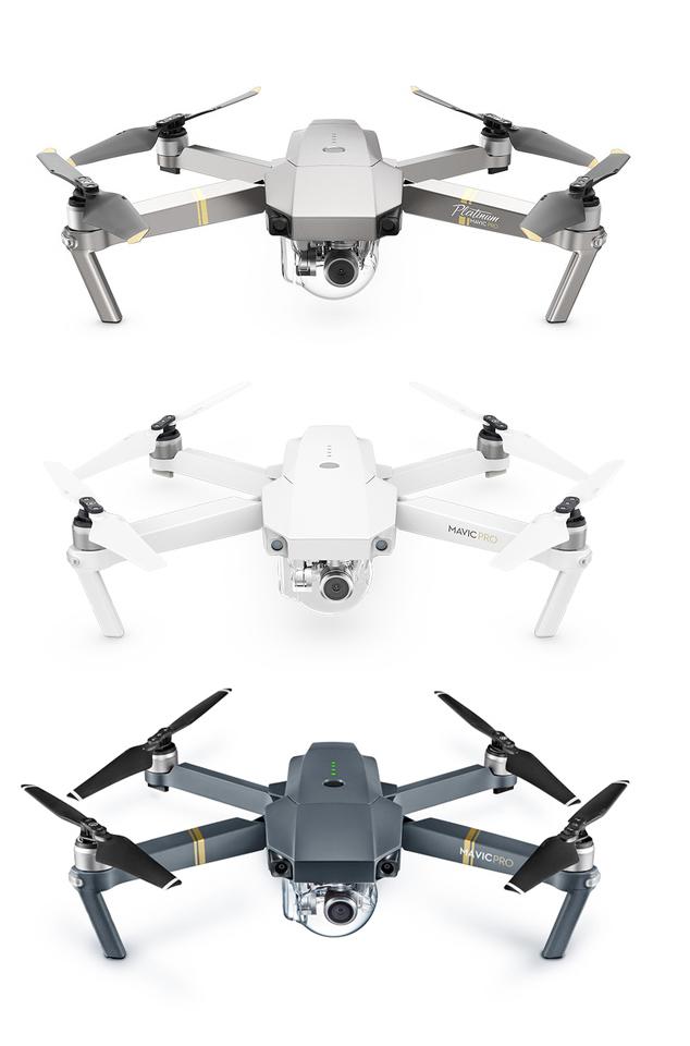 Drohnen mit Kamera DJI Mavic Pro Alpinweiss Platinum